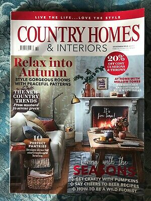Country Homes & Interiors Magazine October 2018 (Good Condition)