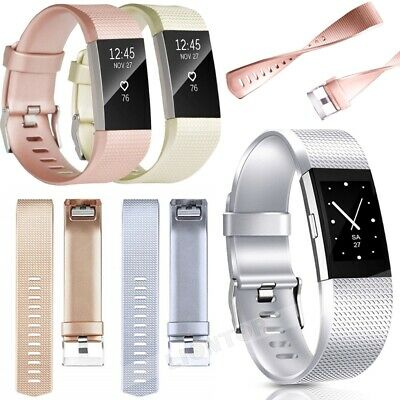 Replacement Fitbit Charge 2 Wristband Silicone Watch Wrist Sports Band Strap S/L