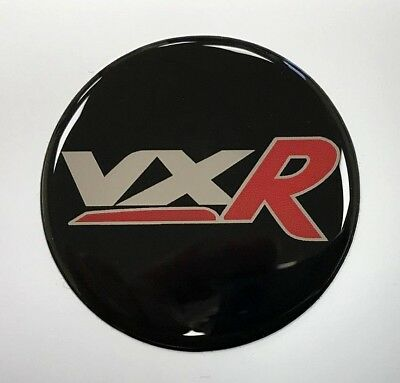 Vauxhall VXR Red Sticker/Decal 54mm Diameter HIGH GLOSS DOMED GEL FINISH - Corsa