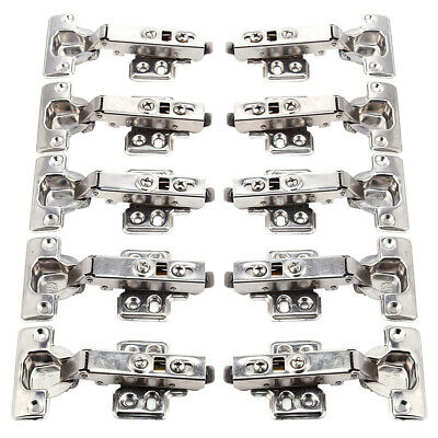 30 Stainless Steel Soft Close Cabinet Cupboard Wardrobe Door Hinges Full Overlay