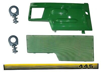 RH Side Panel/Screen/Sticker SET AM128982 M116020  Fits John Deere 445 LOW SN