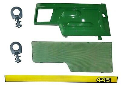 RH Side Panel/Screen/Sticker SET AM128982 M116020  Fits John Deere 445 UP SN