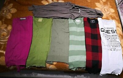 Lotto Stock 7 maglie uomo Tg. M/L varie marche Guess Imperial..