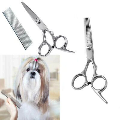 Professional Pet Dog Cat Grooming Scissors Curved Thinning Shear Hair Cutting