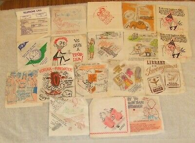 Collection Of Paper Bar Napkins. Humorous. 1960s. Good Man Cave Find.