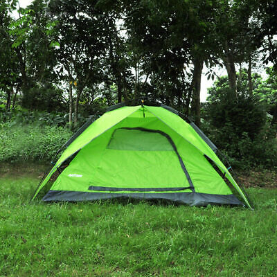 Green Waterproof Tents 3-4 People Automatic Instant Pop Up Family Camping Hiking