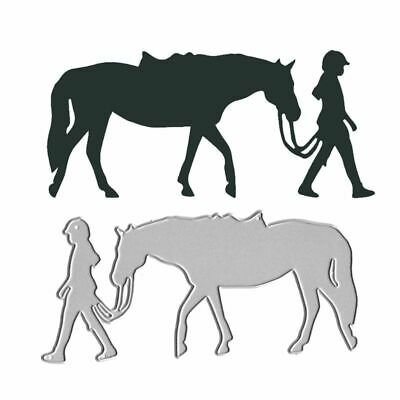 Pulling Horse  Cutting Dies Stencil Scrapbooking Paper Card Embossing DIY Crafts