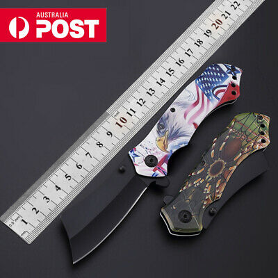 Outdoor Tactical Survival Folding Pocket Knife Camping Hunting Straight Knife 58