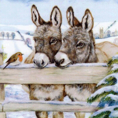 UK Full Drill Two Donkey 5D Diamond Painting Embroidery Cross Stitch DIY Kit New