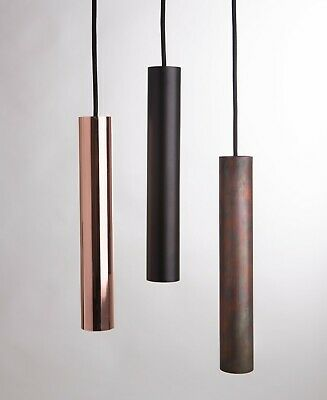 PENDANT PIPE LIGHT - Baton Tube - Steel - Industrial Minimal - Six Colours
