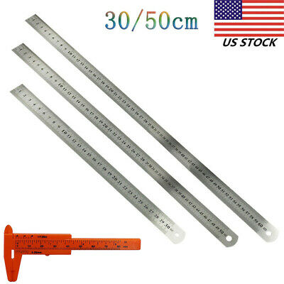 USA 12 20 inch RULE Ruler Scale Stainless Steel METRIC Measuring Layout Tool
