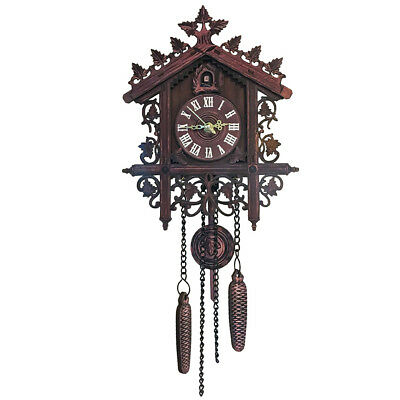 2019 Vintage Wooden Cuckoo Wall Clock Tree House Design Hanging Pendulum Weights