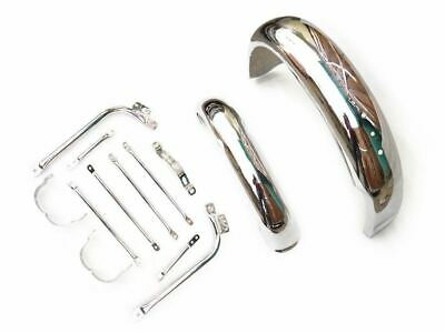 Chromed Front & Rear Fender Mudguard Set With Stays Fits BSA Gold Star