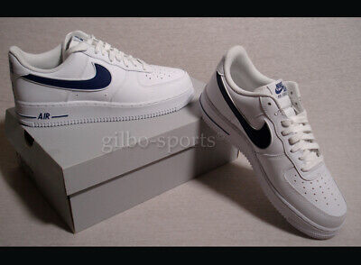 finest selection f462d 0007c Nike Air Force 1  07 3 White Deep Royal Blue Größe 44 weiß AO2423 103