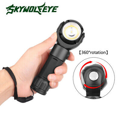 360° Rotating Flashlight T6+ COB LED Military Torch USB Charge Tail with Magnet