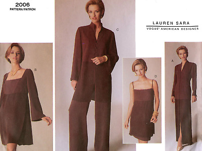 Vogue Sewing Pattern 2006 Tunic, Dress, Skirt and Trousers, Sizes 14-18 or 20-24