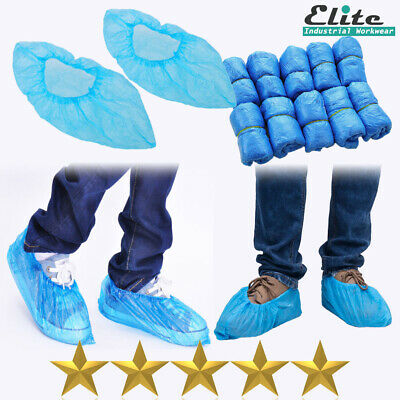 1000 Disposable Plastic Blue Anti Slip Boot Safety Shoe Cover Cleaning Overshoes