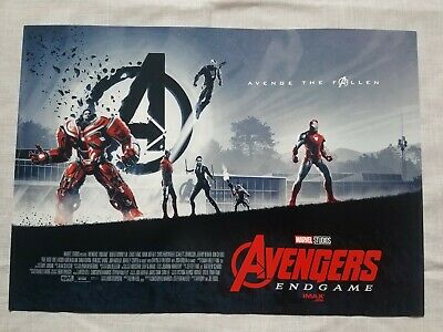 "Avengers Endgame AMC IMAX Mini Poster 11"" x 15.5 "" New"