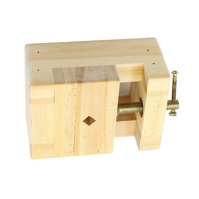 Wooden Mini Flat Pliers Vise Clamp Table Bench Vice for Woodworking Carving