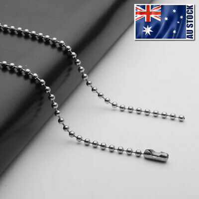 "Wholesale 316L Stainless Steel Ball Bead Necklace Chain For Pendants 16"" - 36"""