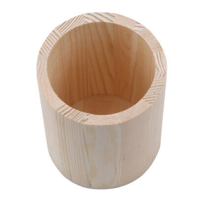 Wooden Pen Pencil Cup Holder Stationery Box Office Desk Tidy Organizer Home RE