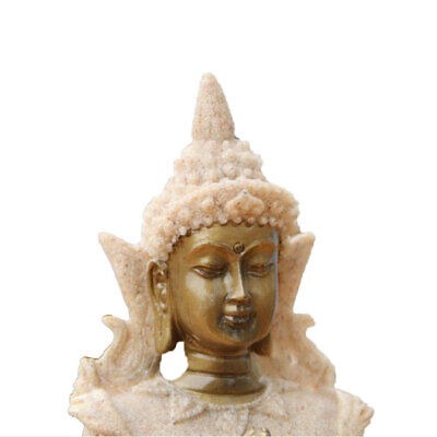 Resin Southeast Asian Elephant Buddha and Sandstone Meditation Statue Decor