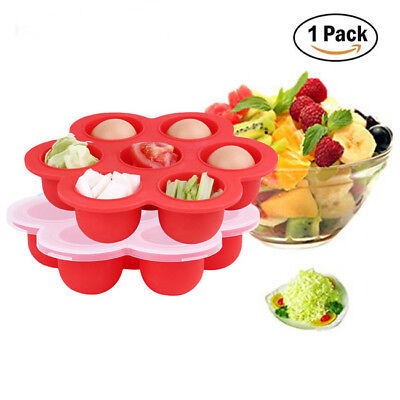 Silicone Food Containers Baby Weaning Freezing Pots Boxes Freezer Storage RE