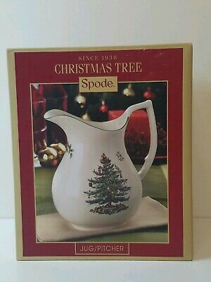 Spode 49oz Jug Pitcher Christmas Tree Retail $70.00