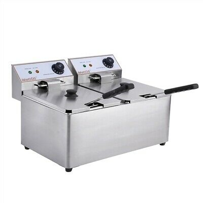 Commercial Fryer Table Top Twin Double 8L Chip Imettos 101005
