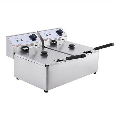Commercial Twin Table Top Fryer 6L Chip Double Imettos 101004