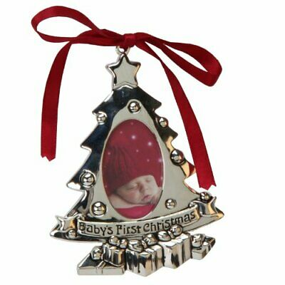 Juliana Silverplated Babys First Christmas Tree Ornament