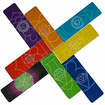 Long Chakra Magnetic Bookmarks - Longer Premium Beautiful Page Markers Chakra Co