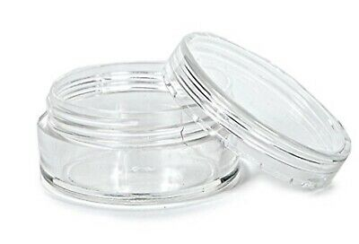 150, Clear, 5 Gram Plastic Pot Jars, Cosmetic Containers. BUY BULK, Free Ship!
