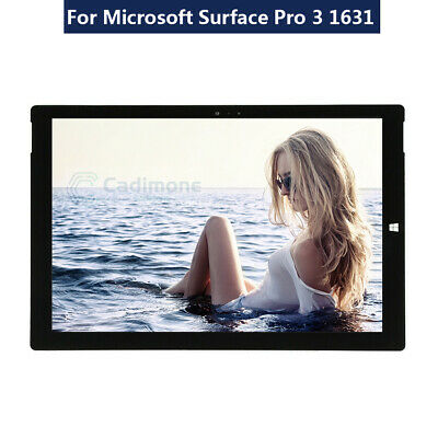 Black Pour Microsoft Surface Pro 3 1631 LCD Touch Screen Digitizer Assembly B4FR