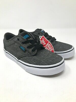 0a4c21b208 VANS Atwood Grey Size 1 Youth Boys Canvas Oxford Shoes NEW WITHOUT BOX