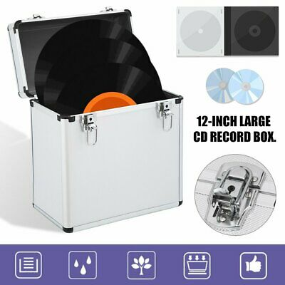 """12"""" LP Vinyl Record Carry Storage Case DJ Collection Box - ABS&Alloy - Holds 50"""