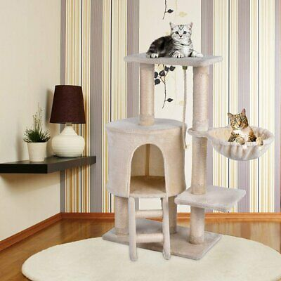 Cat Tree Teaser with Scratching Post Kitty Tower Furniture Pet Play House 96cm