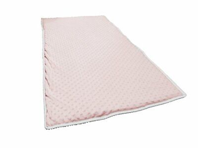 Super Soft Baby PinkWhite Luxury Quilted Travel Cot Mattress Enhancer With Micr