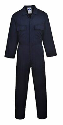 Portwest S999NATXXL Euro Work Polycotton Coverall, Tall, Size 2X-Large, Navy
