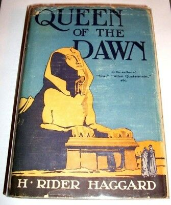 RARE ORIGINAL DJ * H Rider Haggard QUEEN OF THE DAWN 1st US 1925 Ancient Egypt