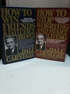 ( LOT OF 2) Dale Carnegie How To Win/Stop Hardcover Books