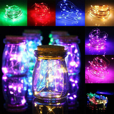1M 10LED Battery Operated Micro Rice Wire Copper String Fairy Lights Party Decor