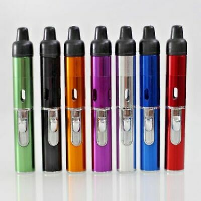 Windproof Torch Lighter Portable Click-N-Vape Smoking Pipe Built-in Lighter