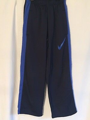 f15f27bdd NWT BOYS NIKE 6 Navy Blue/White Shiny Stripe Athletic Track Pants ...