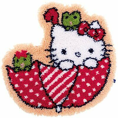 Vervaco Latch Hook Kit Rug Hello Kitty in The Umbrella, Other, NA, 53 x 55cm