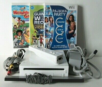 Nintendo Wii Console With Game Controller Cords GameCube Party System Bundle Lot