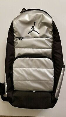 ce17b37a5a06 NIKE AIR JORDAN All World Backpack Black Silver 9A1640 Laptop Bag ...