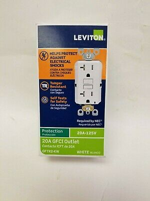 Leviton Switch Ground Fault Circuit Interrupter 20A 125V GFTR2-KW New