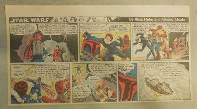 Star Wars Sunday Page by Alfredo P. Alcala from 8/10/1980 Third Page Size!