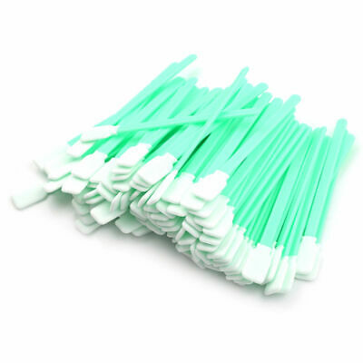 100 PC Tipped Cleaning Solvent Swabs Foam For Epson Mutoh Mimaki Roland Print RS
